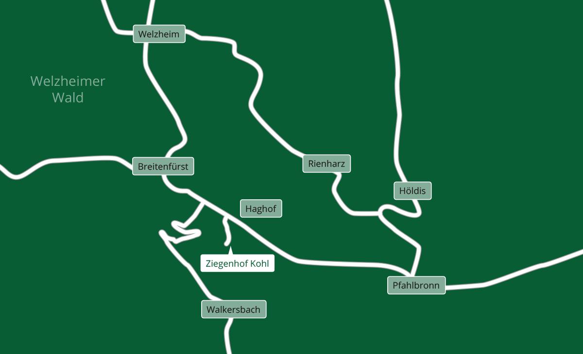 Anfahrt Ziegenhof Kohl